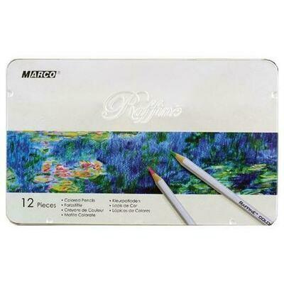 Набор цветных карандашей MARCO в металлической упаковке 12 цветов