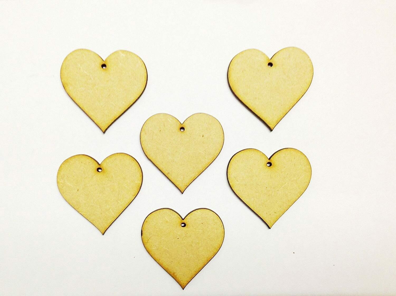 Сердечки из дерева Wooden Hearts 3см 50шт