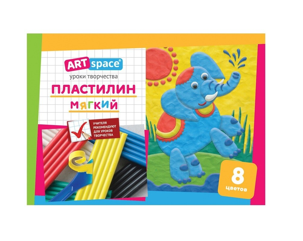 "Пластилин ""ArtSpace"", 8 цветов"