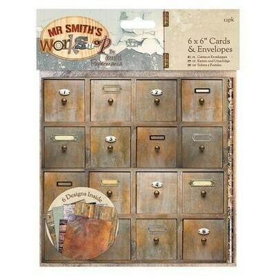 Набор конверт+открытка docrafts (12шт) 10*10