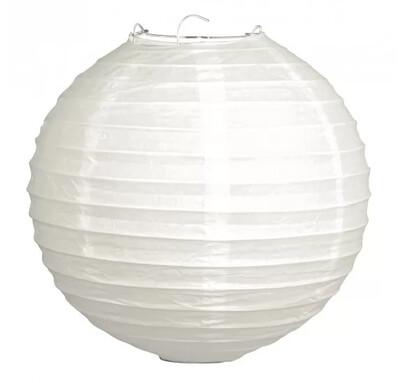Фонарики бумажные 'Rayher' белые 20 см, 2 шт