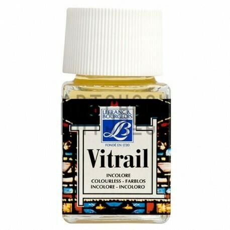 Витражная краска по стеклу и керамике Vitrail Lefranc&Bourgeois Бесцветная, 50 мл