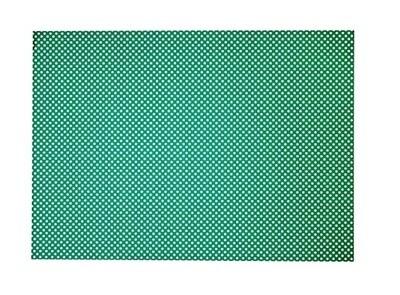 Картон декоративный (зеленый в белый горошек) 50*70 см, 1 лист