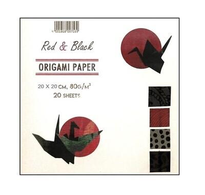 Набор бумаги для оригами 20*20 см, 20 шт