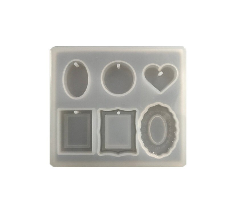 Силиконовая форма для отливки кулонов 8,5*7,5 см