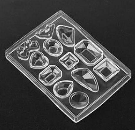 Силиконовая форма для отливки алмазов 8*6 см