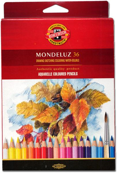 Набор карандашей цветных акварельных Koh-I-Noor Mondeluz 36 цв