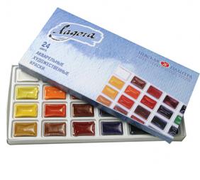 Акварельные краски Ладога 24цв