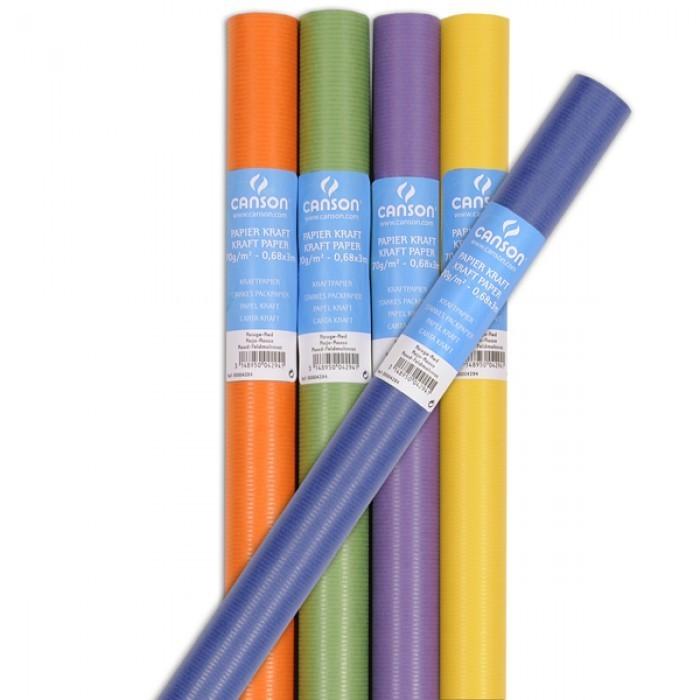 Бумага крафт цветная 65г/кв.м 68х300 см в рулоне Kraft