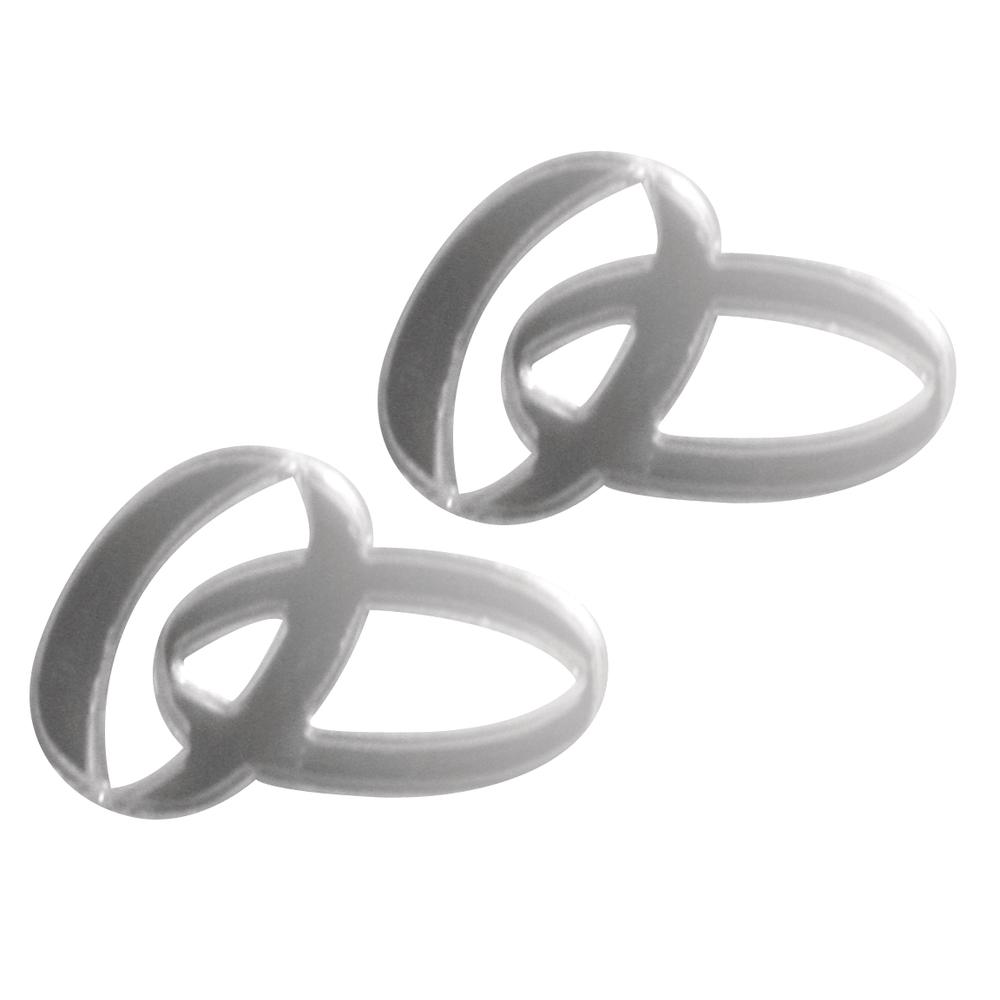 Кольца акриловые на самоклейке 3x2см 4шт