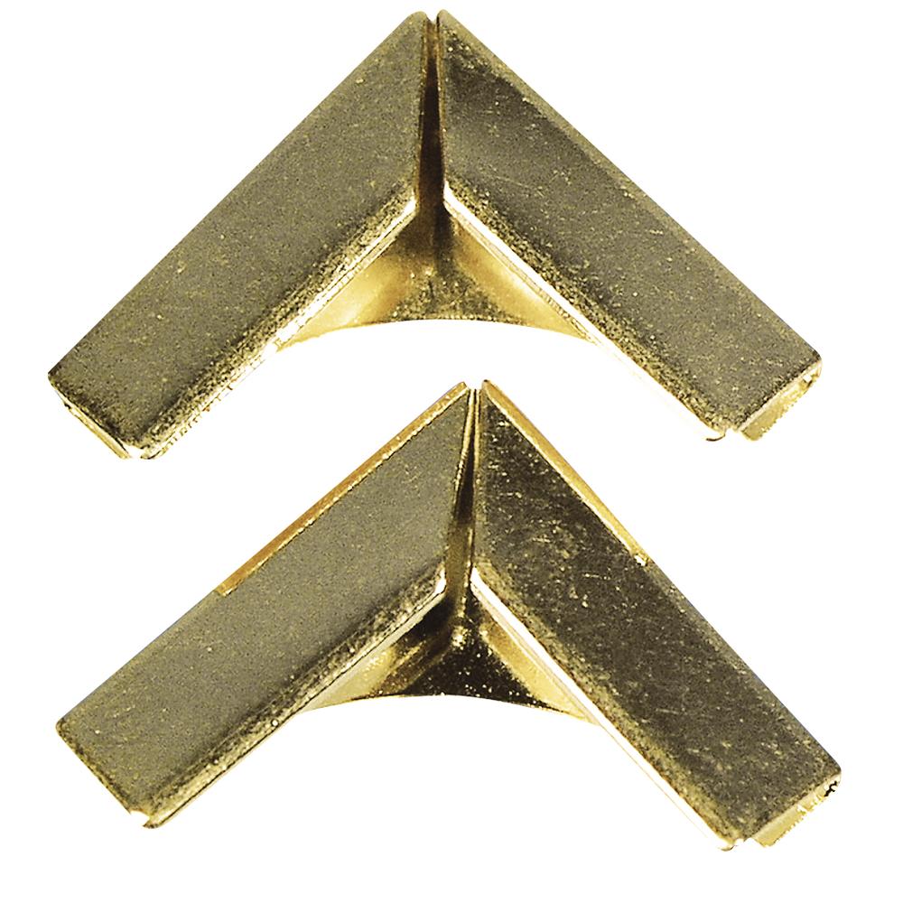 Уголки для альбомчиков, под золото, 14x14 мм, 4шт