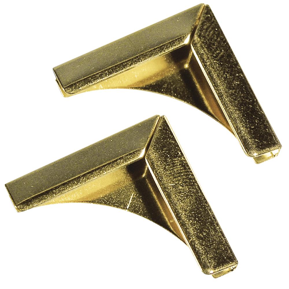 Уголки для альбомчиков, под золото, 21x21 мм, 4шт