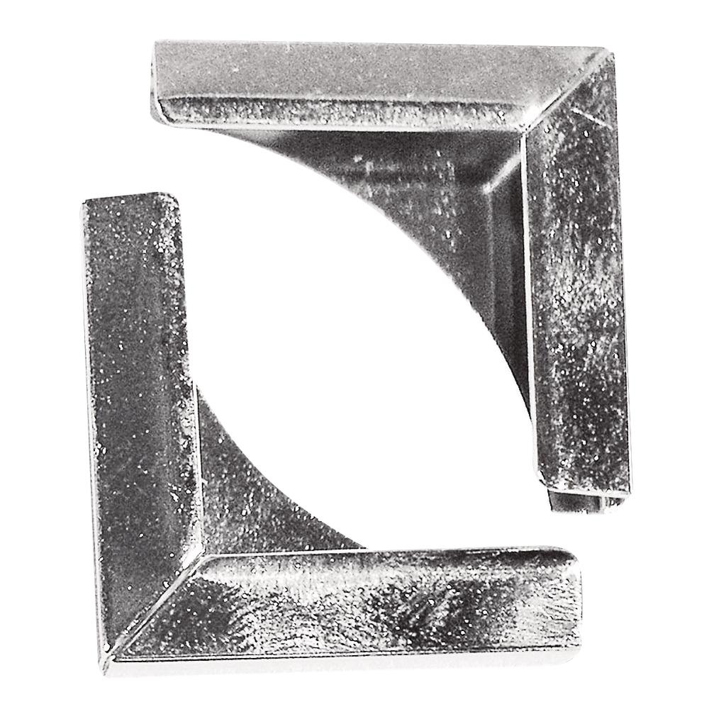 Уголки для альбомчиков, под серебро, 21x21 мм, 4шт