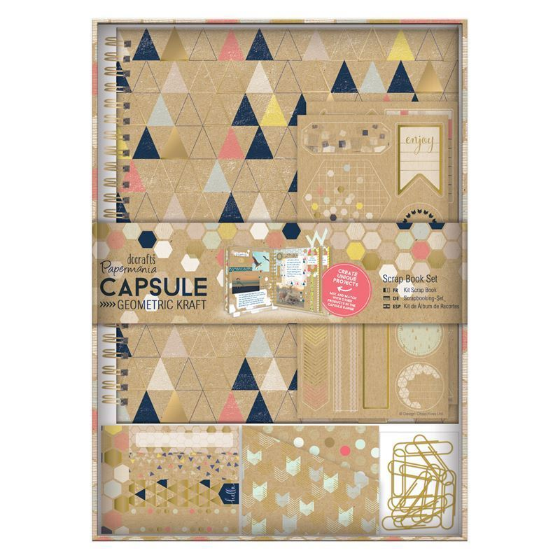 Набор для скрапбукинга Papermania Geometric Neon Sprial Scrapbook Kit