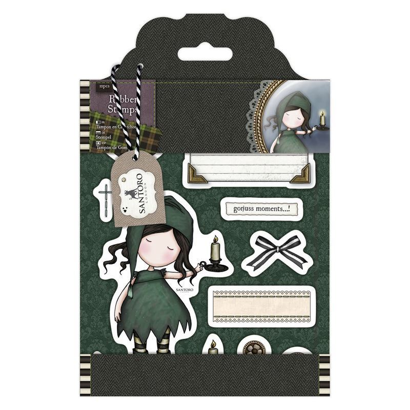 Штампы DOCRAFTS Rubber Stamps - Santoro Tweed - Nightlight