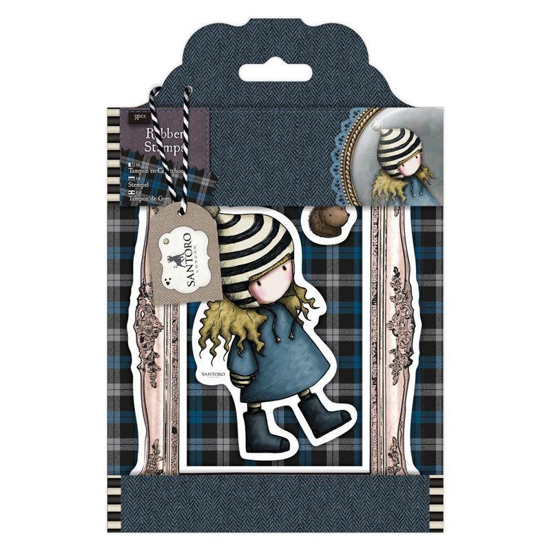 Штампы DOCRAFTS Rubber Stamps - Santoro Tweed - The Friendly Hedgehog