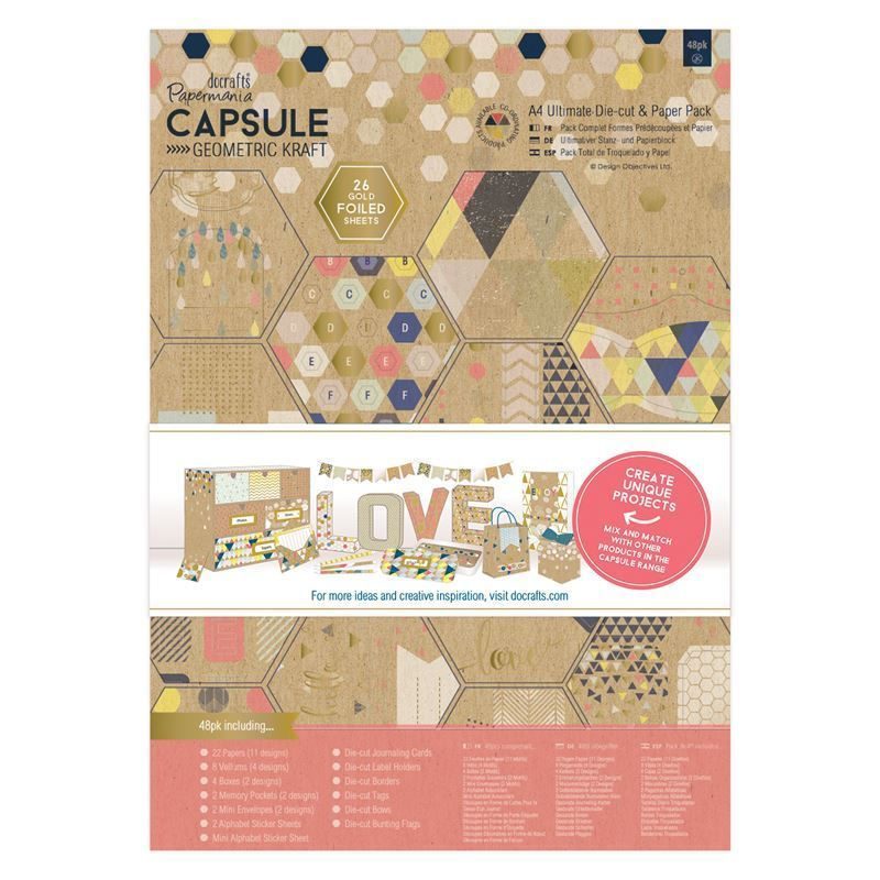 Набор бумаги A4 docrafts (48шт) - geometric Kraft