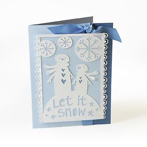 Нож Sizzix Thinlits Cutting Embossing Stencil Die LET IT SNOW
