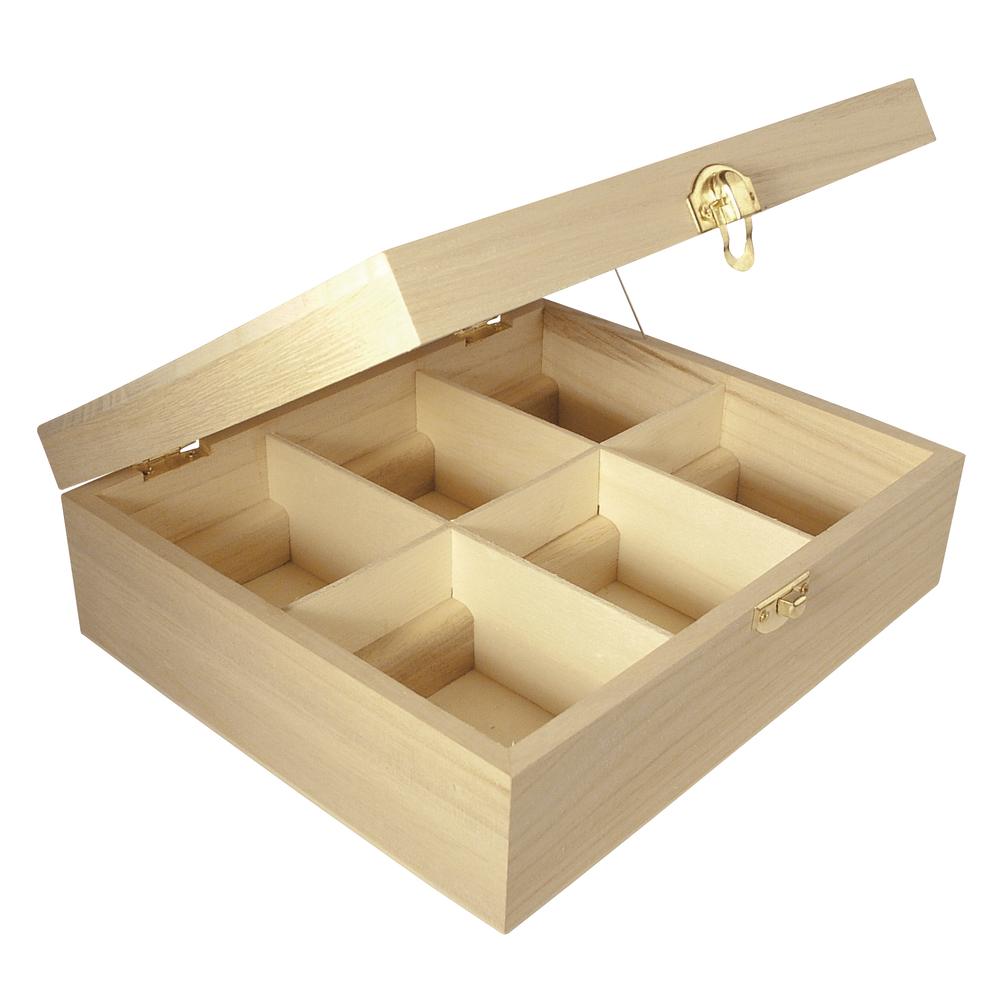 Чайная коробка Teebox 6 разделений RAYHER