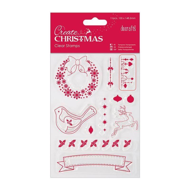 Набор штампов 105 x 148.5mm - Рождественские картинки