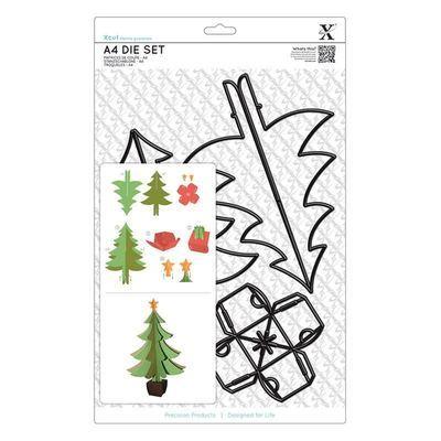 Набор ножей A4(5шт) - Рождественская елочка 3D
