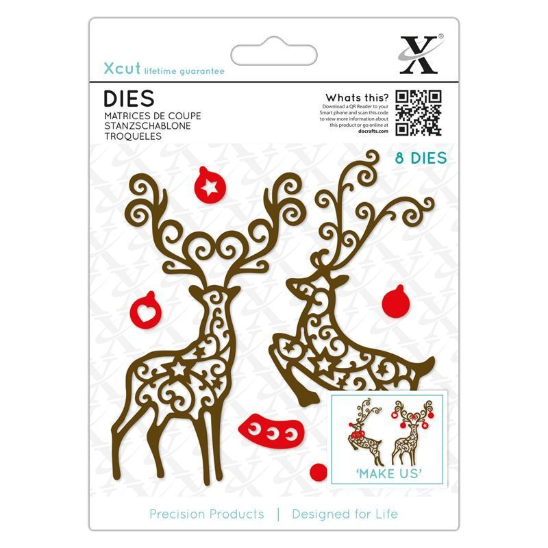 Форма для вырубки Xcut - Filgree Reindeer
