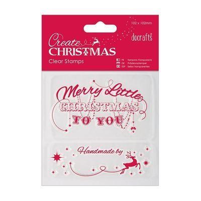 Набор штампов 10x10см - Merry Christmas
