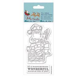 Штампы 75 x 140mm Mini Clear Stamp - Jolly Santa - Chimney