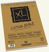 Альбом для графики XL, 90гр/м, Экстра белая, 21х29.7см, 120л