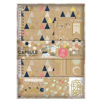 Набор для скрапбукинга Papermania Geometric Neon Sprial Scrapbook Kit