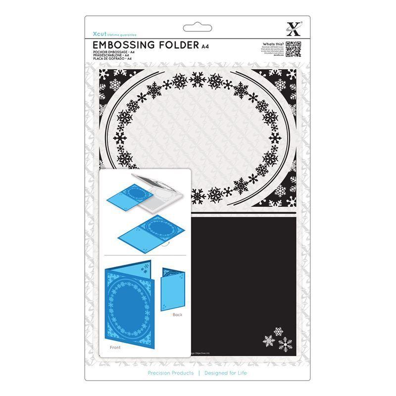 Папка для тиснения A4 - Snowflake Frame