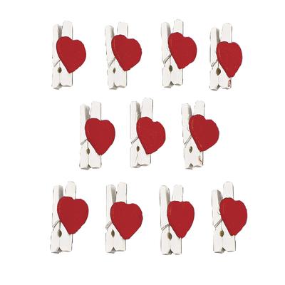 Прищепки с сердечками 12шт