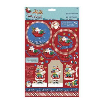 Декор A4 Decoupage Pack - Jolly Santa - Snowman