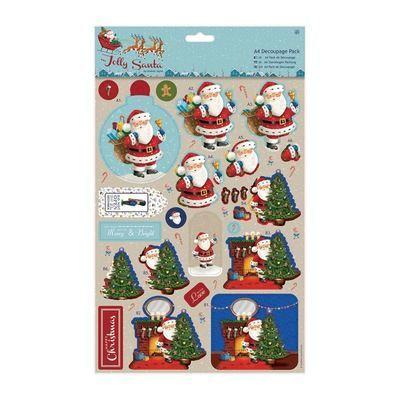 Декор A4 Decoupage Pack - Jolly Santa - Toys