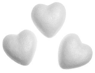 Сердца из пенопласта 70мм 1шт
