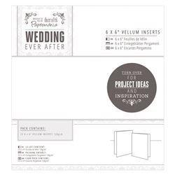 Вкладыши для пригласительных 15*15 Paper Inserts (25шт) - Wedding