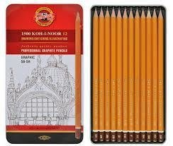 Набор ч/гр карандашей 12 шт. в металле Koh-I-Noor