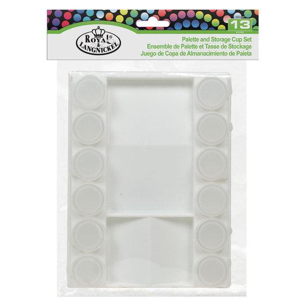 Палитра пластик с баночками 12шт 20,4*15,5*3см
