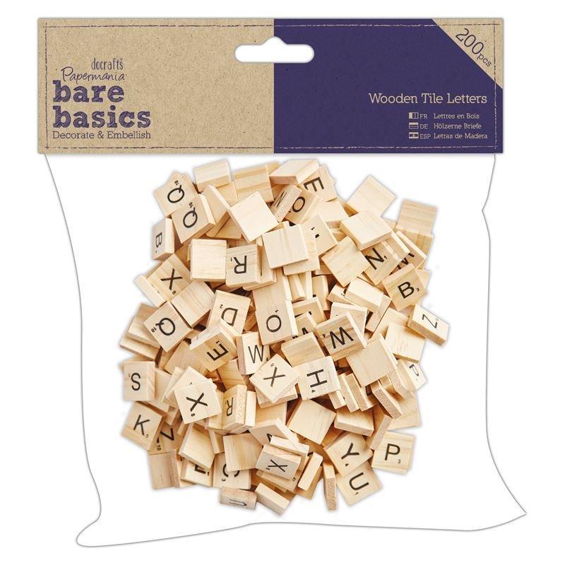 Алфавит Wooden Tile Letters (200шт)