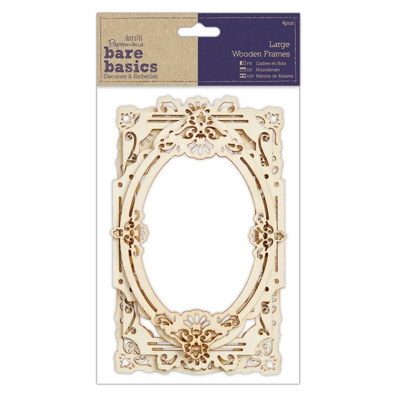 Рамки Wood Frames (4шт) - Bare Basics - Large
