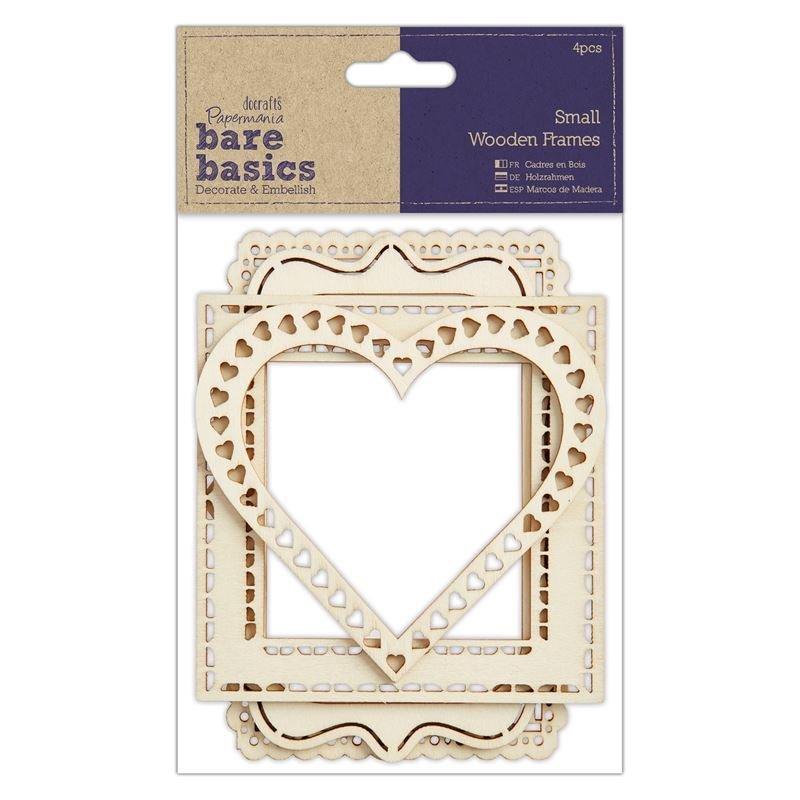 Рамки Wood Frames (4шт) - Bare Basics - Small 11-14см