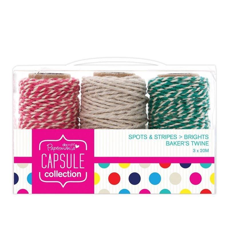Нить 20м (3 шт) - Capsule - Spots + Stripes Jewels