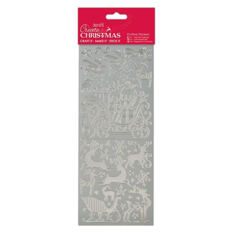 Наклейка - Traditional Xmas Relations - Silver
