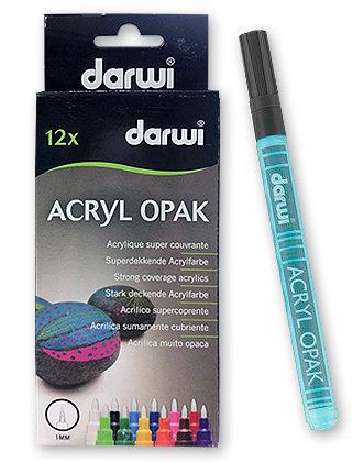 Набор акриловых маркеров DARWI 12шт