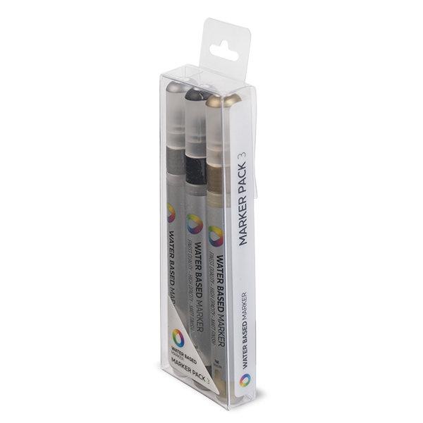 Набор маркеров MTN 3мм 3шт на водной основе