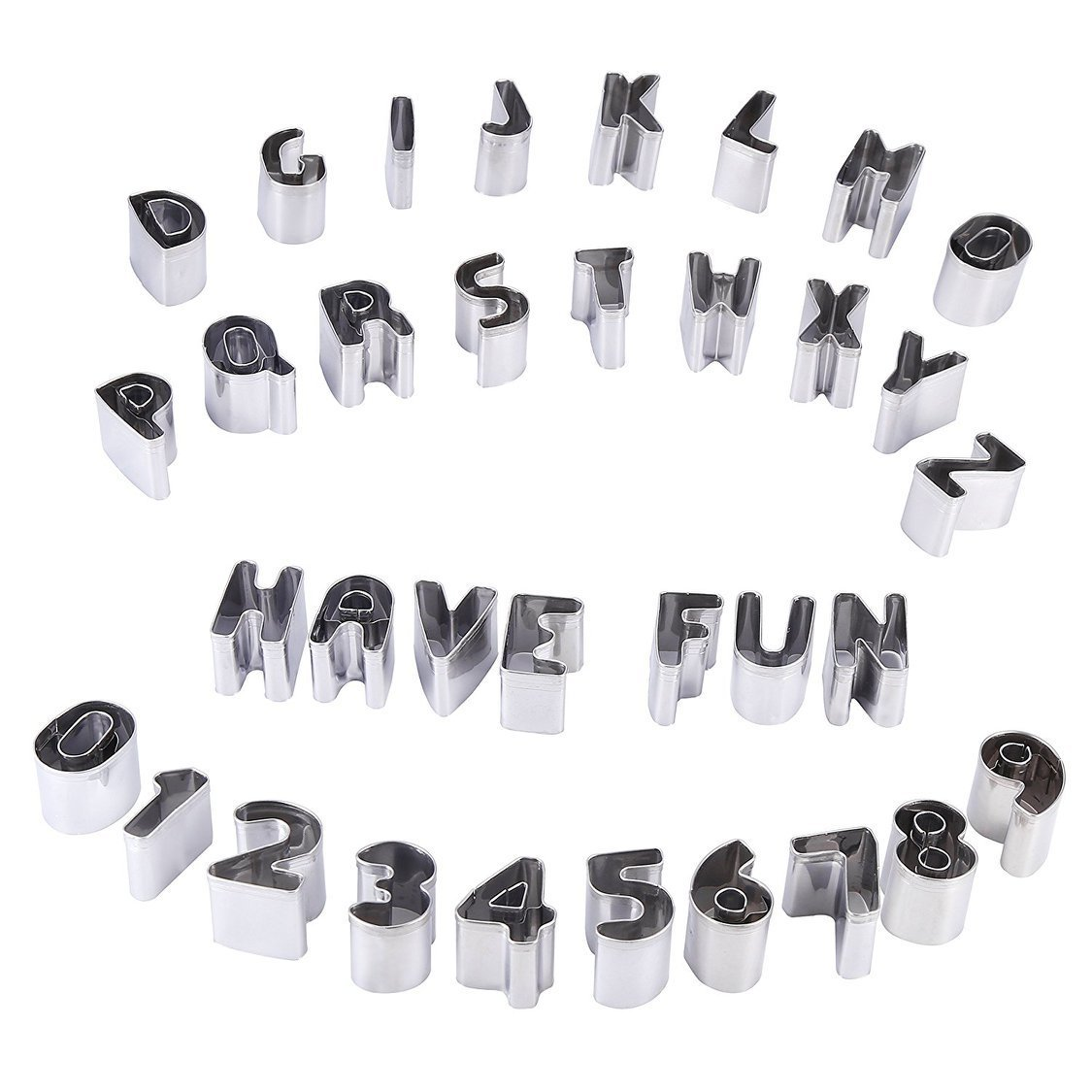 Набор металлических форм для пластики и воска алфавит и цифры