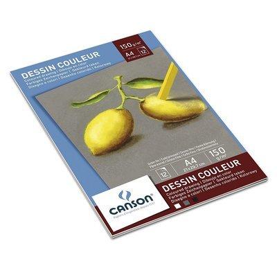 Склейка листов Canson Pastellpapier 150гр, 21х29.7, 12 листов, 3 цв.
