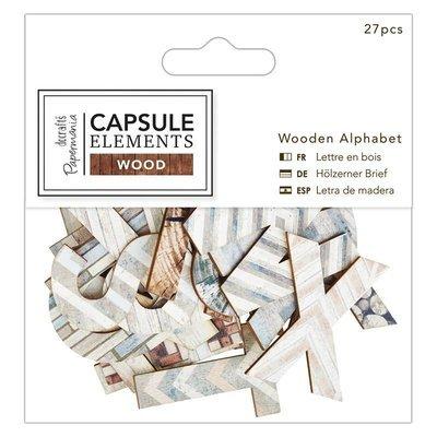 Алфавит Wooden Alphabet (27шт ) - Elements Wood