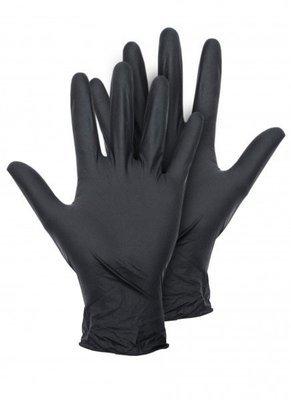 Перчатки нитриловые черные - поштучно (S) (М) (L)