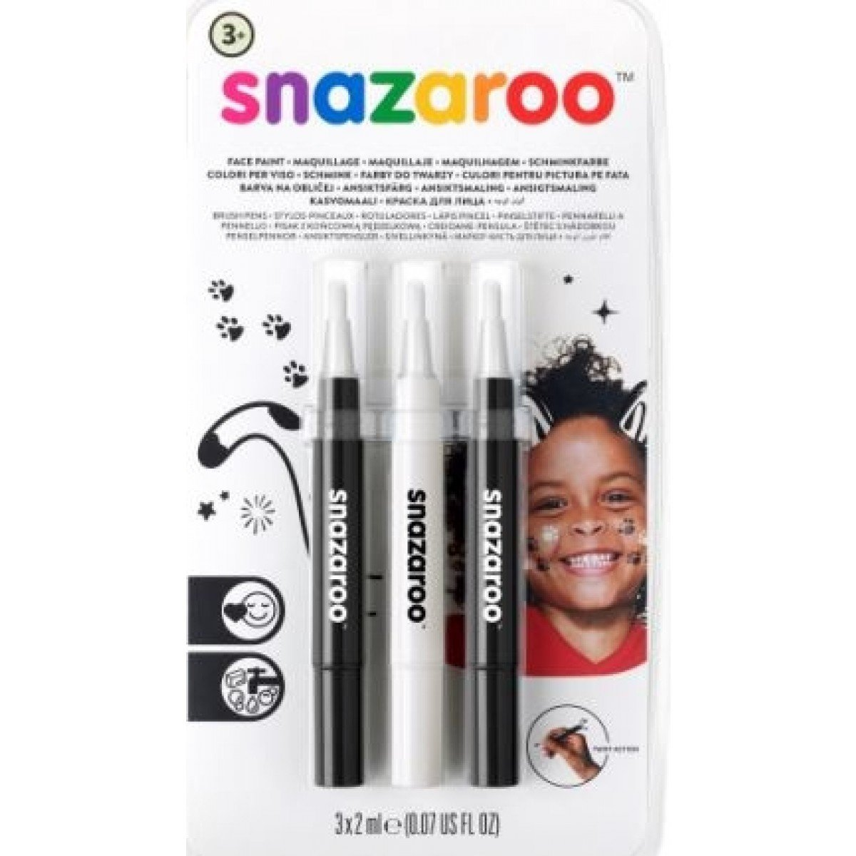 Набор Brush Pen SNAZAROO - монохром 3шт.